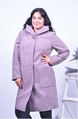 Пальто кашемір з капюшоном