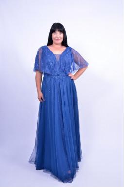 Сукня святкова довга з мереживом батал