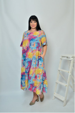 Сукня довга в кольорах супер батал