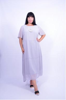 Сукня напівсвітська з прикрасою супер батал