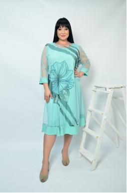 Нарядное платье-двойка  супер батал
