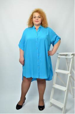 Сукня міні сорочка супер батал