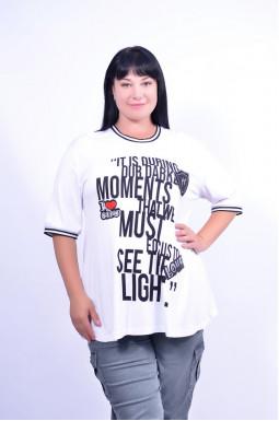 Повсякденна футболка з принтом батал