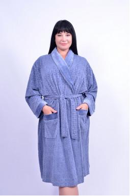 Теплий плюшевий халат супер батал