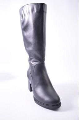 Сапоги зимние кожаные на каблуке больших размеров