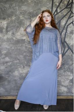 Сукня-двійка святкова довга батал