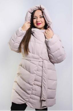 Стьобане пальто з поясом