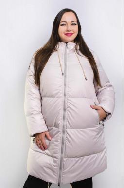 Пальто стеганое зимнее со шнуровкой супер батал