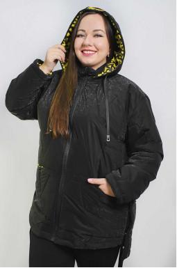 Куртка удлиненная с яркой подкладкой батал