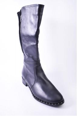 Удобные зимние кожаные сапоги больших размеров
