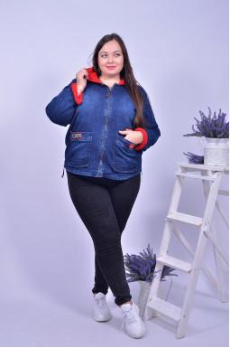 Куртка джинсова з еко-хутром