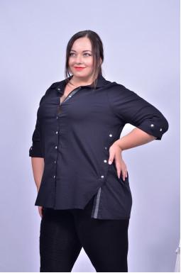 Сорочка в офіс під брюки батал