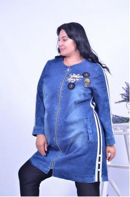 Куртка джинсова подовжена батал