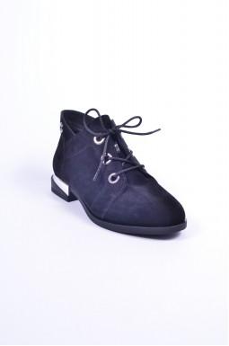Черевики замшеві на шнурівці великих розмірів