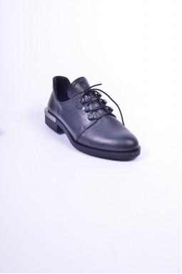 Туфли кожаные на шнуровке больших размеров