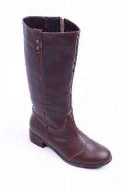 Коричневі зимові чоботи великих розмірів