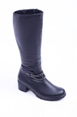 Зимові чоботи з ланцюжком великих розмірів