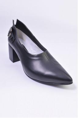 Туфли на каблуке кожаные больших размеров