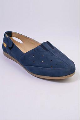 Туфлі нубук з перфорацією великих розмірів