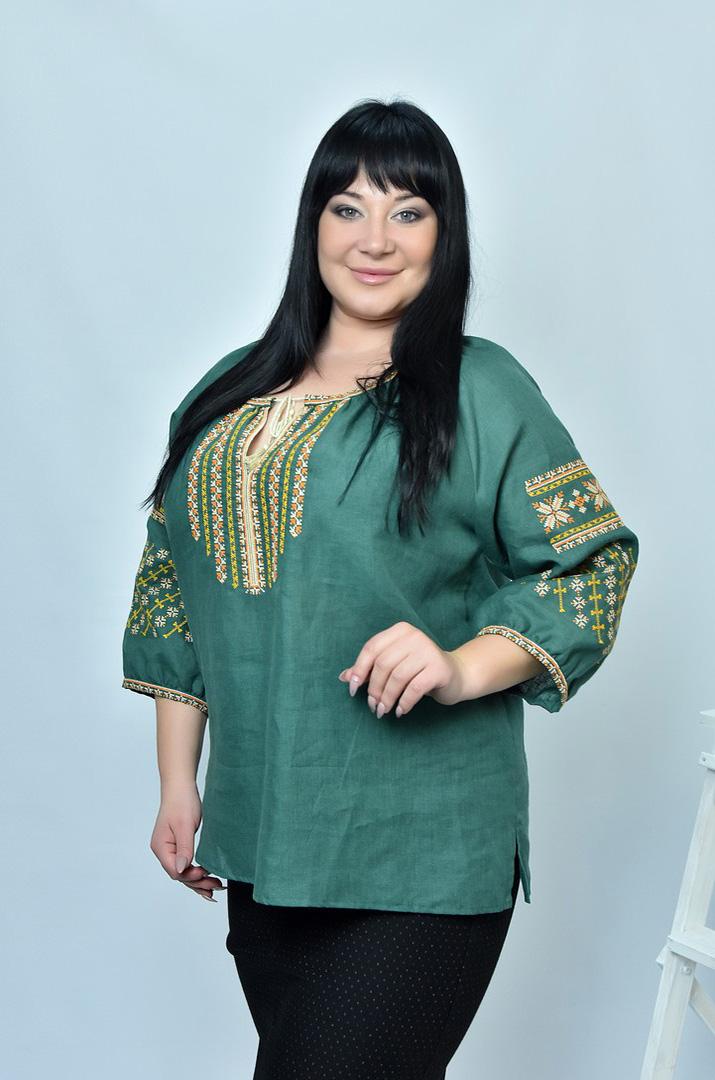 Блузки вишиванки великих розмірів в інтернет-магазині Пишна Краса