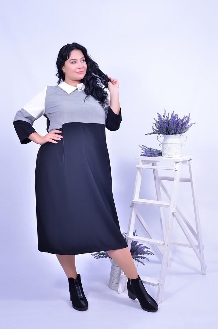 Сукня великого розміру для офісу - інтернет-магазин Пишна краса